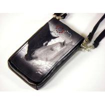 Handytäschchen/Digitalkamera-Tasche Schneepferde