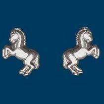 "Ohrstecker steigendes Pony ""Levade"", Silber 925"