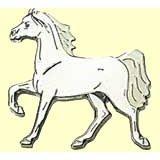 Pferde-Pin Araber Trab