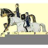 Pferde-Pin Dressur Galopp