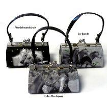 Retro-Schminktäschchen / Clipgeldbörse Minibag Pferde