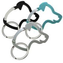 Schlüsselanhänger Hundekopf-Karabiner