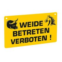 "Warnschild ""Weide betreten verboten"
