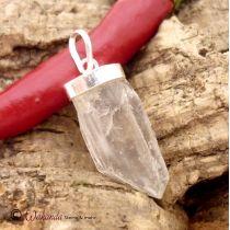 Anhänger Bergkristall Spitze naturbelassen, in Silberfassung