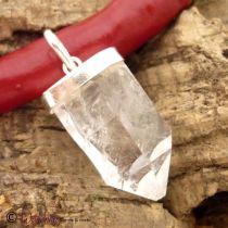 Anhänger Bergkristallspitze in Silberfassung