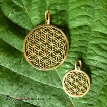 Anhänger Blume des Lebens, Silber 925 vergoldet