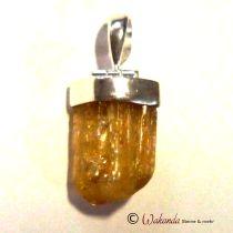 Anhänger Goldtopas (Imperialtopas) mit Silberkappe