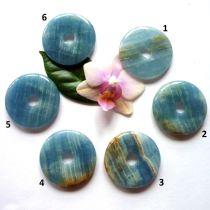 Aragonit blau, Donut 40 mm