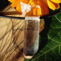Bergkristall-Spitze, Rohstein gebohrt, extra klar, groß