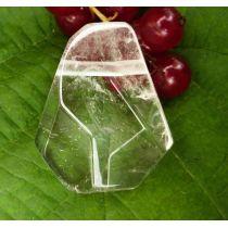 Bergkristall, Freeform, facettiert, seitlich gebohrt