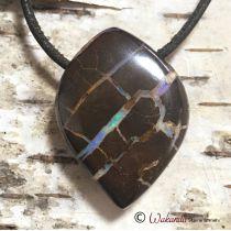 Boulder-Opal Anhänger seitlich gebohrt