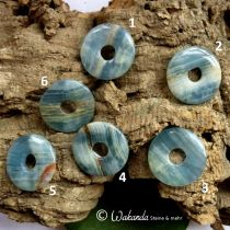 Donut Aragonit blau ca. 30 mm
