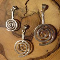 Donuthalter Spirale, echt Silber glänzend