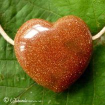 Herz Goldfluss gebohrt, groß
