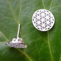 Ohrstecker Blume des Lebens 16 mm Silber 925