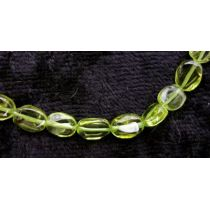 Peridot oval 7x5 mm, gebohrt, 10er Pack