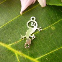 Zwischenstück Mini-Gecko mit 2 Ösen, Silber 925