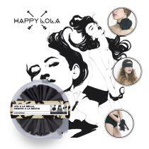 Happy Lola Bondage Blume in schwarz, multifunktionales Textilband