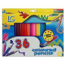 36 Buntstifte in Box - ca. 26 x 20 cm