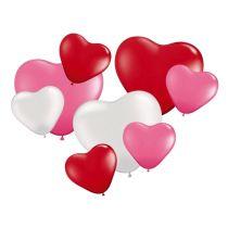 Ballon - Lufballon - Herzballon farbig - 8 Stück