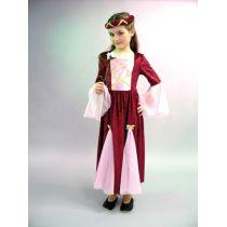 Burgfräulein - Kinderkostüm - Kleid mit Jungfernkranz