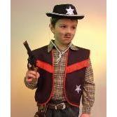 Cowboy Weste schwarz - Sheriff - Gr. 116