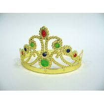 Diadem mit Schmucksteinen - Prinzessin-Diadem gold