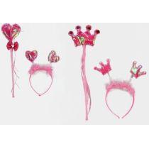 Haarreif und Zauberstab - rosa - im Beutel - 2 Varianten