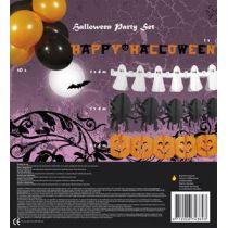 Halloween Deko Set - vier Girlanden und 10 Luftballons