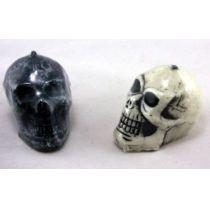 Kerze - großer Totenkopf - schwarz oder weiss - Halloween