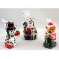 Kerze - Weihnachtskerze - Kerze mit Weihnachtsmotiv