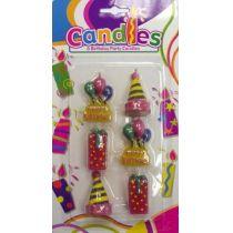 Kerzen Set - Partykerzenset mit 6 Kerzen - Geburtstagskerzen