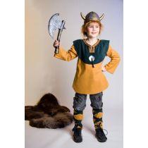 Kostüm - Wikinger-Junge - Oberteil und Beinstulpen
