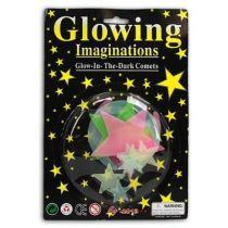 Leuchtsterne Kinderzimmer - Mond Sterne nachleuchtend - 10 Stück