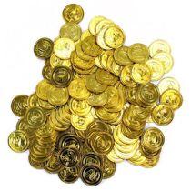 Münze - Goldmünze - Schatz - ca. 3,5 cm - einzeln erhältlich
