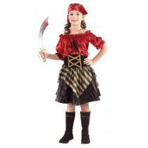 Piratin Lola - Kinderkostüm - Einheitsgröße 7-9 Jahre