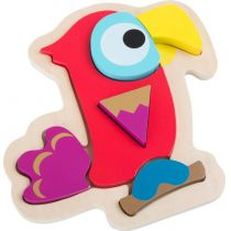 Puzzle Papagei - Holzpuzzle - Legepuzzle - ab 2 Jahren