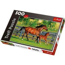 Puzzle - Pferdefamilie - 500 Teile