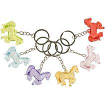 Schlüsselanhänger Pferd - bunt sortiert ca. 4 cm