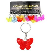 Schlüsselanhänger Schmetterling - transparente Farben
