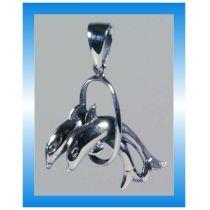 Schmuck - Kettenanhänger - Springende Delfine - Sterlingsilber