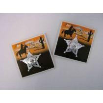 Sheriffstern silber - mit Anstecknadel - Stern - Cowboy