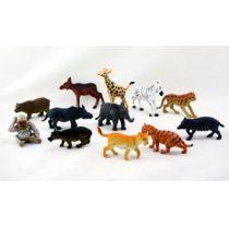 Tiere - Zootiere in 12 Varianten - Tierfigur - wilde Tiere
