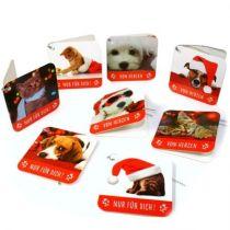 Weihnachts Geschenk Anhänger - 8 Stück/Set - Hunde Katzen