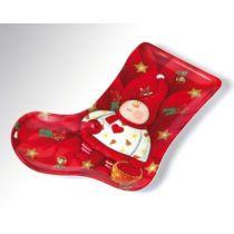Weihnachtsteller - Stiefel - aus Melamin - ca. 25 cm