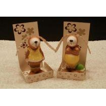 2 niedliche Hasen aus Keramik