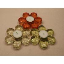 3 Teelichthalter Blume - ca. 8 cm Durchmesser
