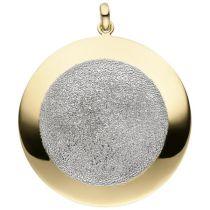 Anhänger 925 Sterling Silber vergoldet mit Glitzereffekt