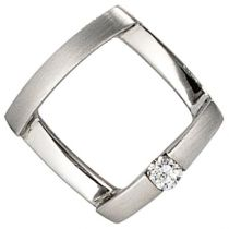 Anhänger 950 Platin mattiert 1 Diamant Brillant 0,03ct. PlatinAnhänger