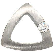 Anhänger 950 Platin mattiert 1 Diamant Brillant 0,08ct. PlatinAnhänger